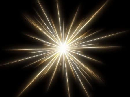 luminosity: Star on a black background. Stock Photo