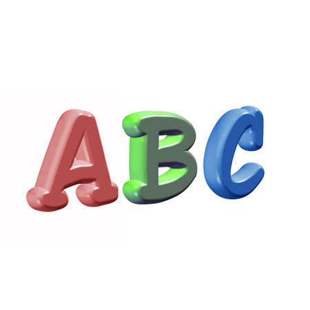 learing: ABC Stock Photo