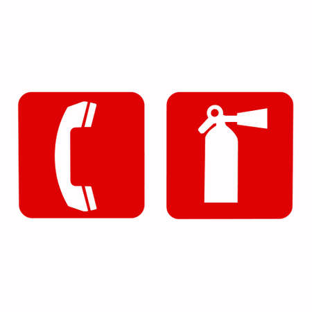 flammability: Fire extinguisher sign.