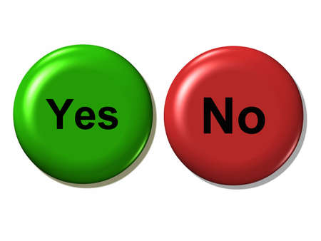 Yes and no. Stock Photo - 3371125