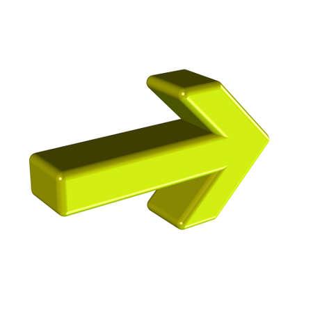 3D golden arrow over. Stock Photo - 3379372