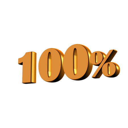 installment: Gold 100 Percent Stock Photo