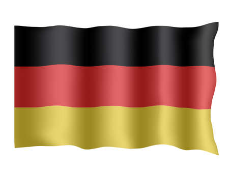 German  flag. Stock Photo