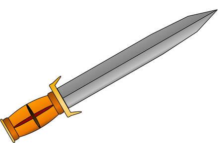 Sword. Stock Vector - 3427348