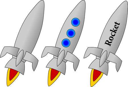Rocket. Vector