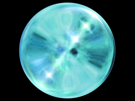 opalescent: Crystal ball.