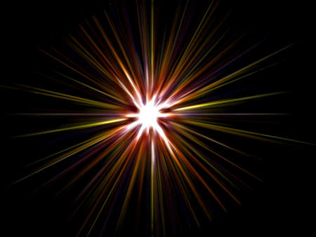 Star on a black background. Stock Photo - 4443580