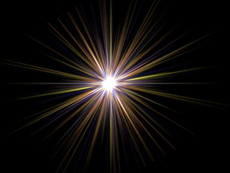 Star on a black background. Stock Photo
