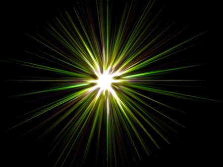 Star on a black background. Stock Photo - 4542443