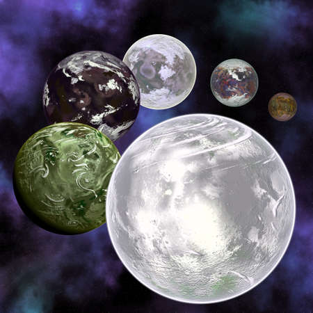Planets in space. Stock Photo - 4542580