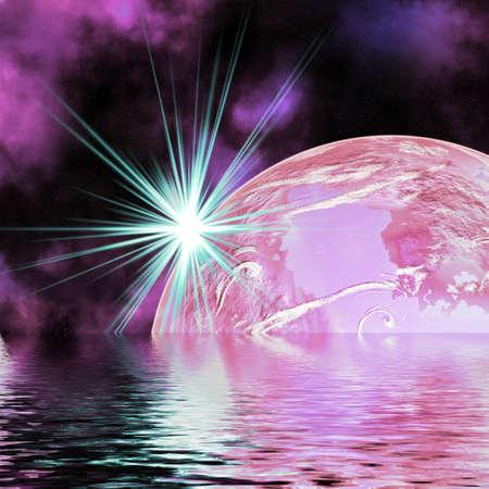 Ice planet. Stock Photo - 4542579