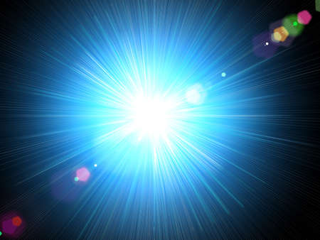 Star on a black background. Stock Photo - 4542495