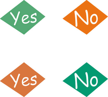 Yes and No Stock Vector - 6031665