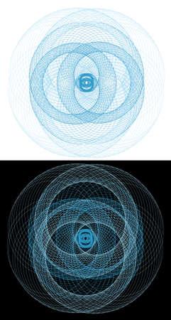 Three-dimensional Abstract vector. Vector