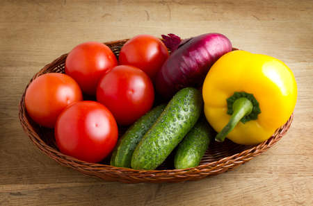 vegetables on a wooden background Stock Photo - 15386292