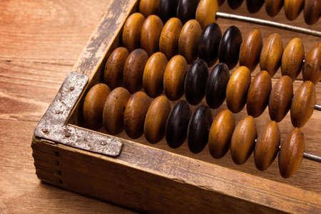 abacus: Fragment starego liczydła bliska Zdjęcie Seryjne