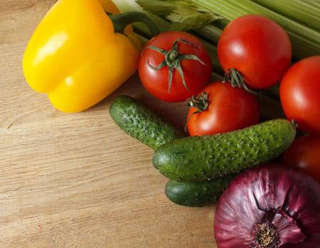 fresh vegetables on wood Stock Photo - 15386291
