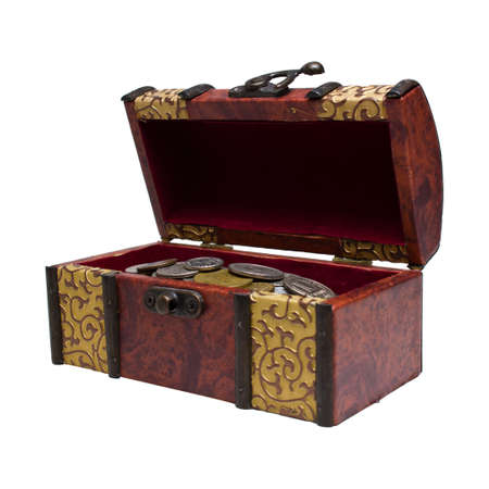 treasure box: chest with coins