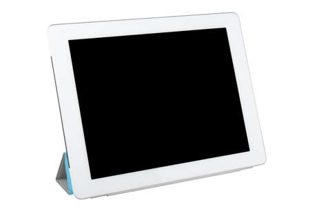 tablet pc isolated on white photo