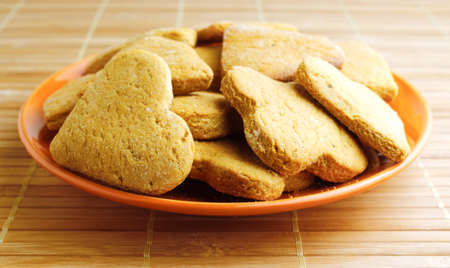 snaps: Ginger snaps cookies on plate