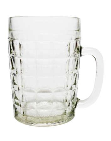 empty beer mug isolated on white