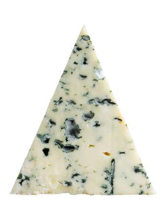 白で隔離されるブルー チーズ