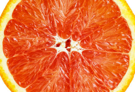 close up: Slice of sicilian orange close up Stock Photo