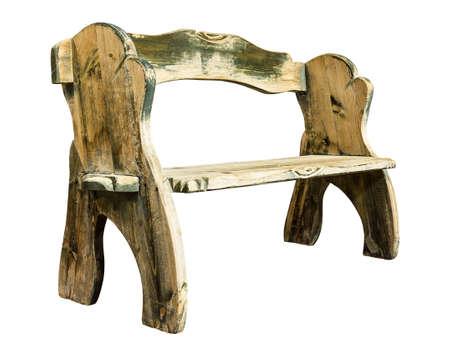 Wood bench isolated on white Stock Photo
