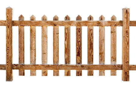 wooden fence: Wooden fence isolated on white