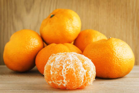 tangerines: Tangerines on wood