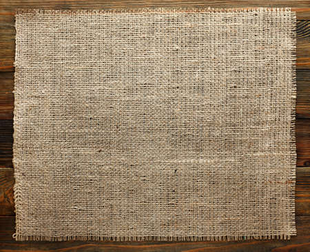 Burlap texture on wood