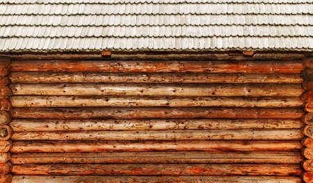 Log house close-up