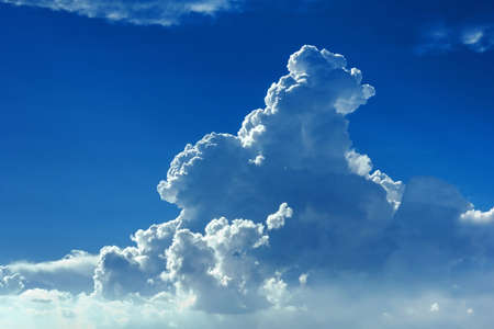 cumulus: Blue sky with cumulus clouds as a background