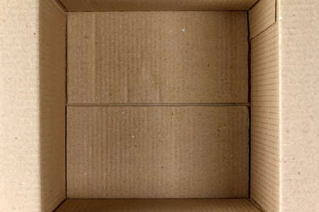 Empty cardboard box close-up
