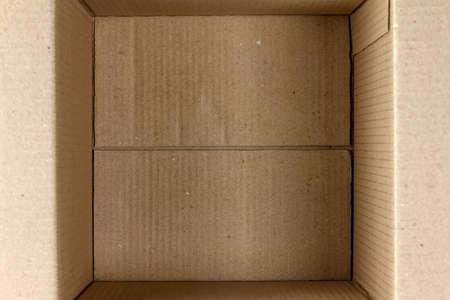 Empty cardboard box close-up