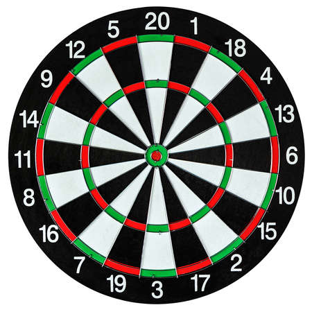 Dartboard isolated on white 免版税图像