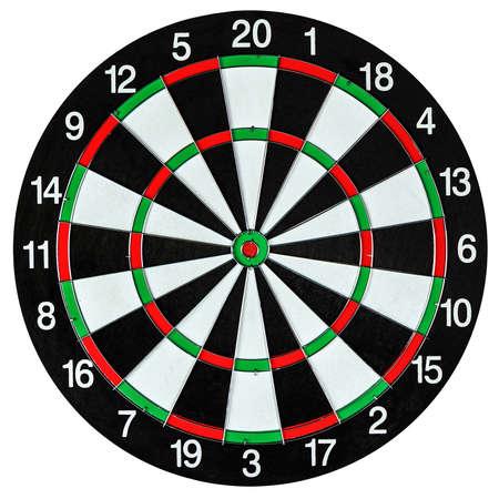 bullseye: Dartboard isolated on white Stock Photo
