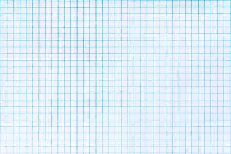 Textuur van blauwe grafiek papier als achtergrond Stockfoto