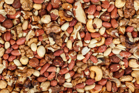 Mix of nuts as a background