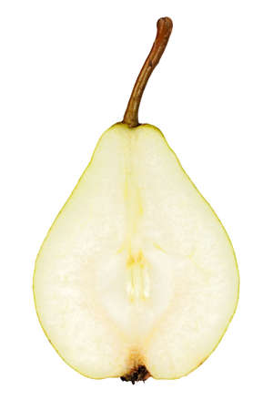 Sliced pear isolated on white Stok Fotoğraf