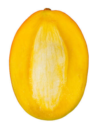 Sliced mango isolated on white Stok Fotoğraf