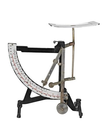 Antique rust household weight scale (clipping path ) photo