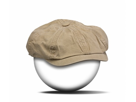 fashion hat on white with clipping path for the hat photo