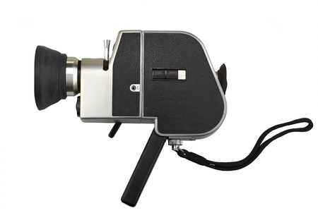 camera super 8 isolated on white