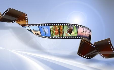 Twisted Film für Foto-oder Video-Aufzeichnung Lizenzfreie Bilder