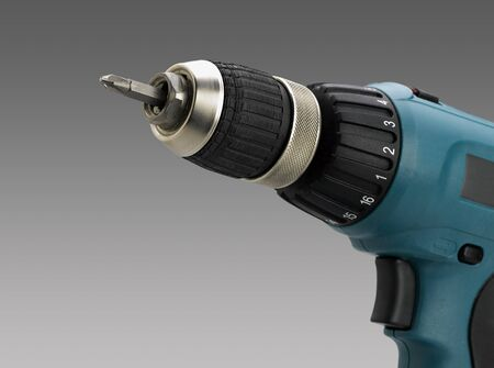 Closeup of electric screwdriver (CLIPPING PATH) photo