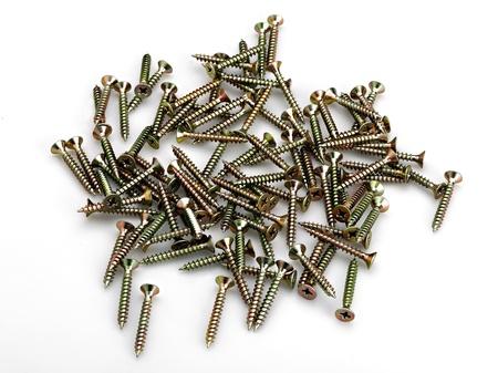screws on the white Stock Photo - 12413915
