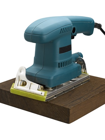 machine for sanding on a wooden block  Stock Photo - 12413910