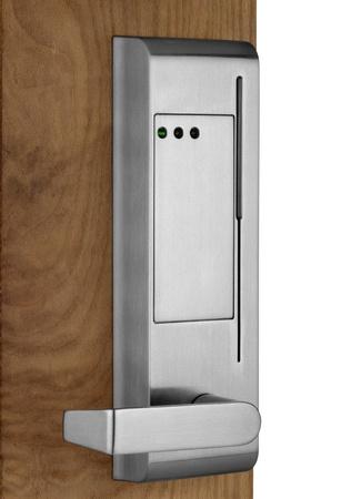 Electronic lock on door photo