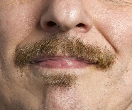 MOUSTACHE CLOSEUP photo